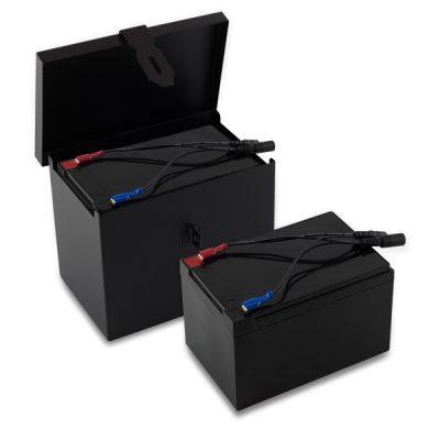 Låda + 2 batterier